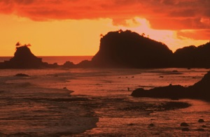 Sunset at Fagatele Bay, American Samoa