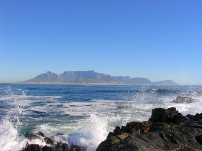 Sea shore in Cape Town, South Africa