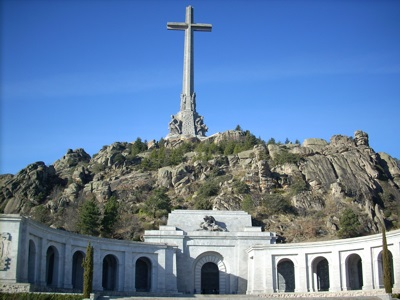 Valle de los Caidos (Valley of the Fallen) and Santa Cruz bas�lica. El Escorial, Madrid, Spain
