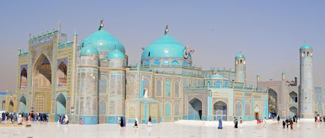 Blue Mosque in Mazir-e-Sharif, Afghanistan