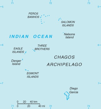 Map of British Indian Ocean Territory
