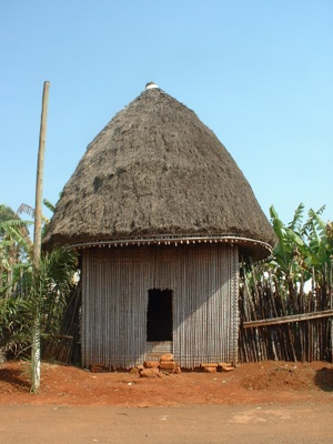 African hut in Cameroon