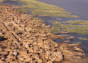 A town on the shore of Lake Chad